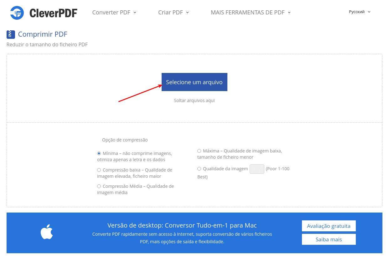 Clever PDF - Enviar arquivo