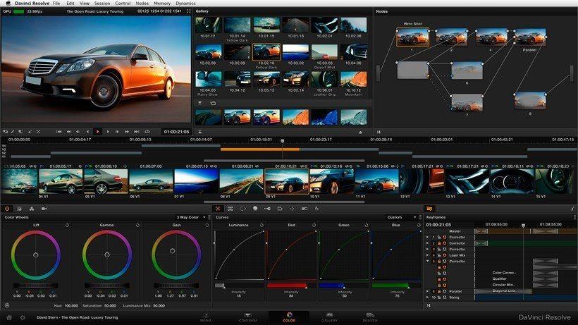 Davinci resolve - Editor de vídeo versão grátis