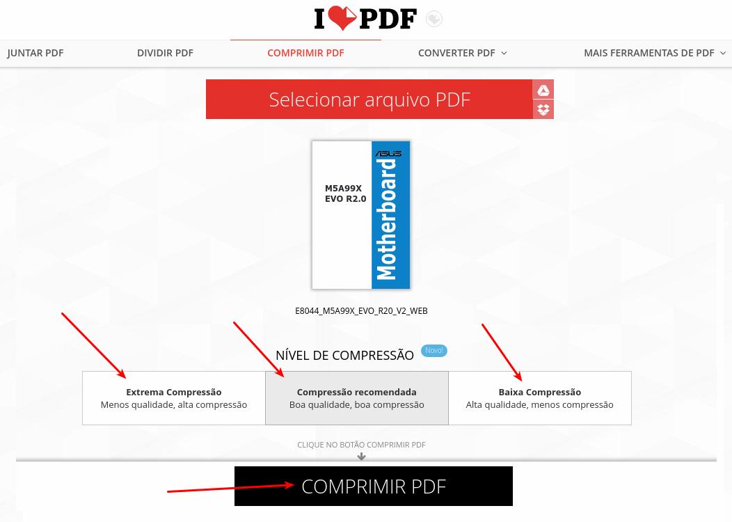 I love PDF - Tipo de compressão