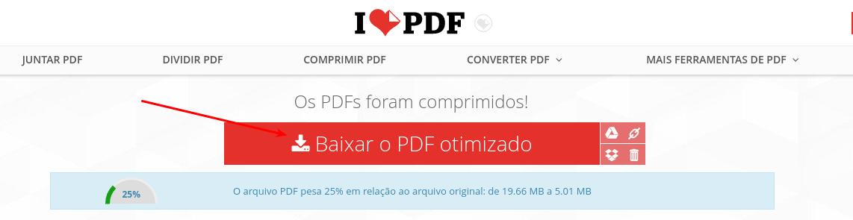 I love PDF - Download do arquivo comprimido