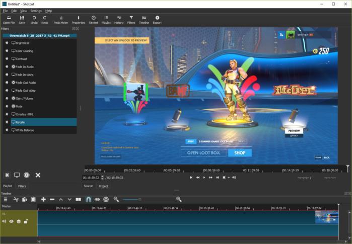 Shotcut - Editor de vídeo