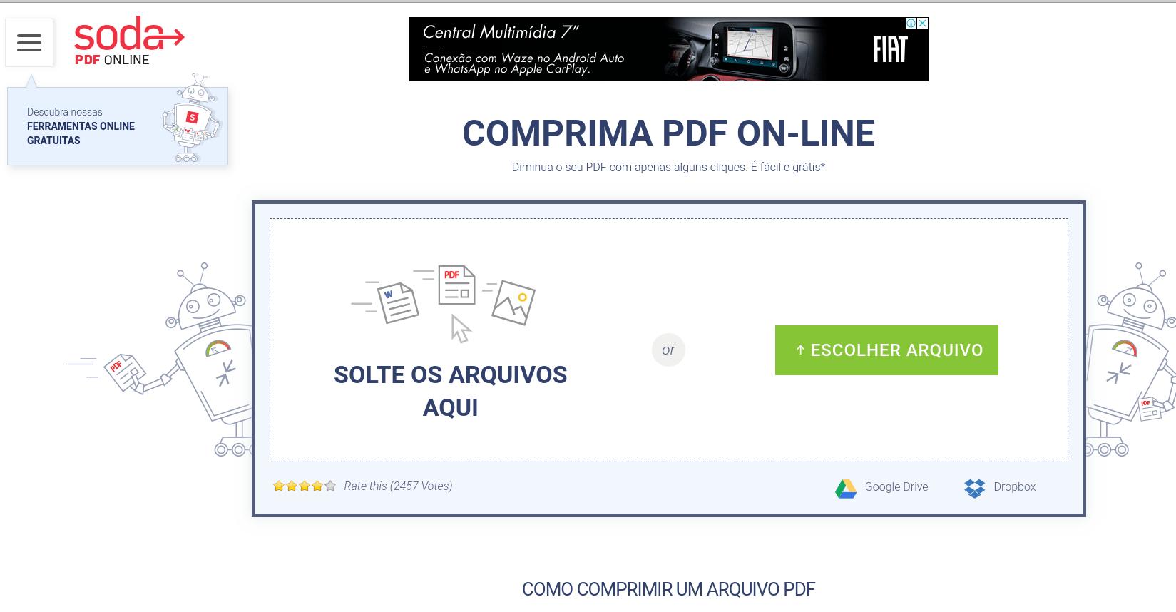 Soda PDF - Enviar arquivos