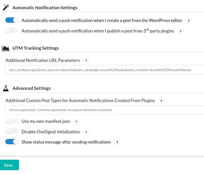 Configurações do OneSignal Parte 7