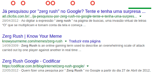 Jogos do Google - Zerg rush