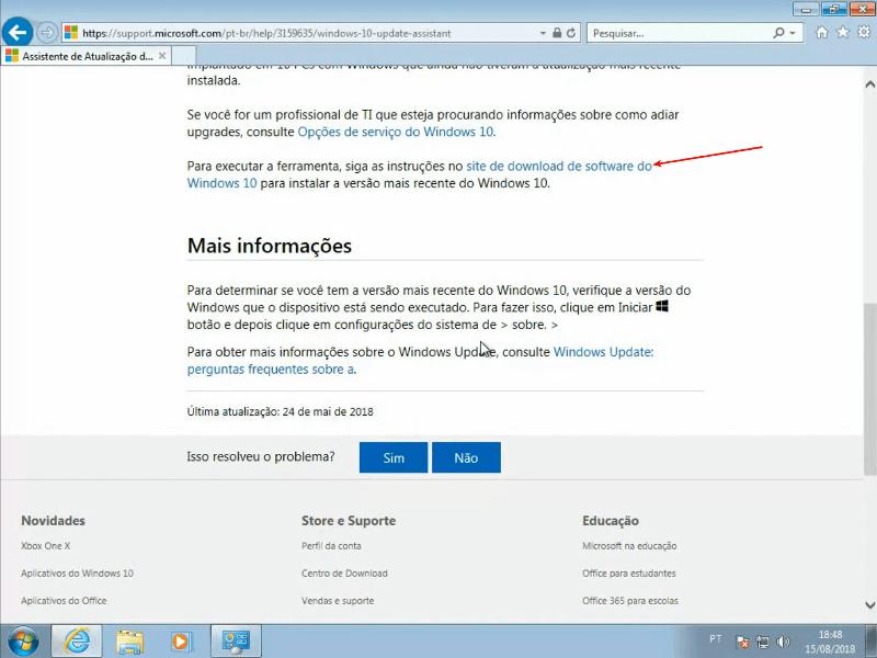Site da Microsoft