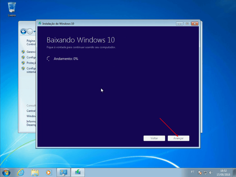 Baixando o Windows 10
