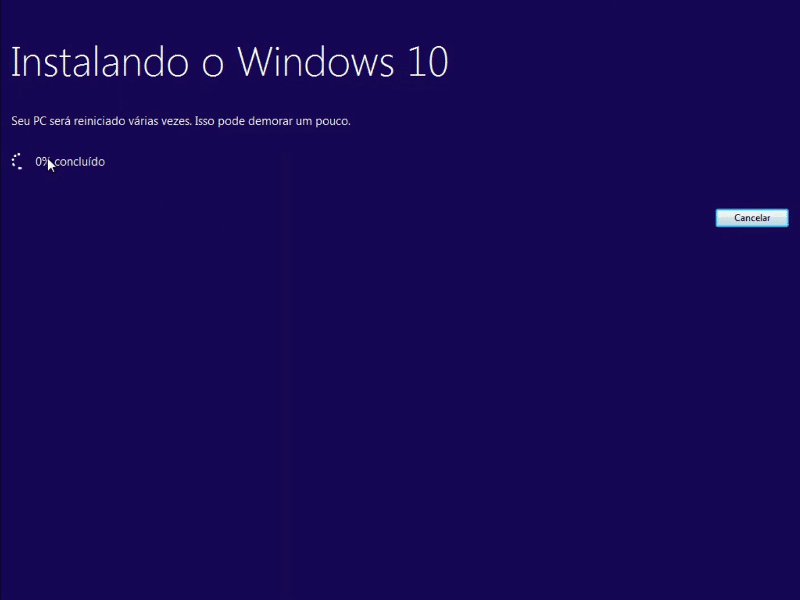 Instalando o Windows 10