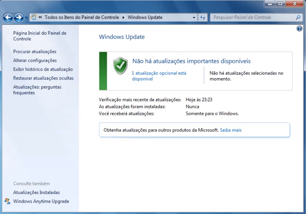 Windows atualizado