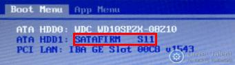 SSD 'virou' SATAFIRM S11 3