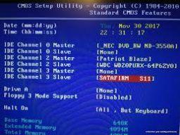 SSD 'virou' SATAFIRM S11 4
