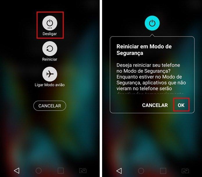 Reiniciar Android em Modo de Seguranca