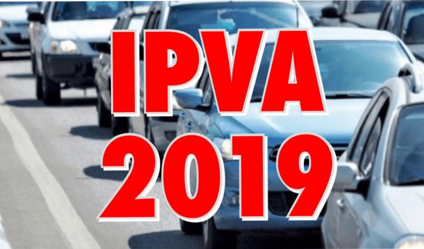IPVA 2019 - Valores e vencimentos