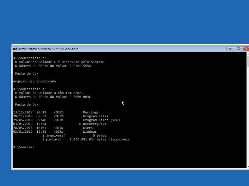 Consertar 'No bootable device' no Windows 10 14