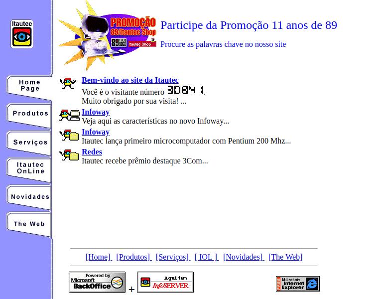 30 anos de WWW - Veja 20 sites da década de 90 e 2000 1