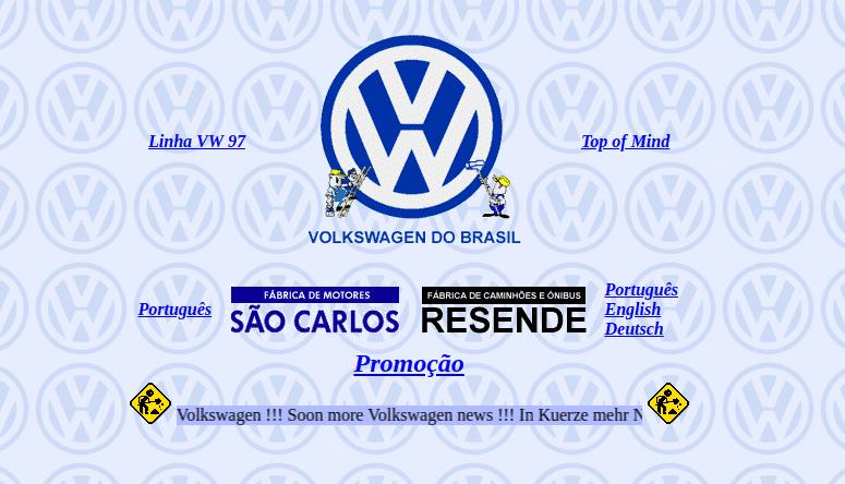 Volkswagen em novembro de 1996