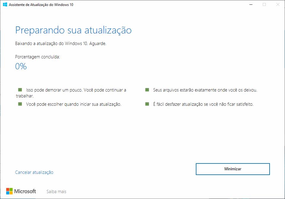 Como obter a atualização de maio/2019 do Windows 10 5