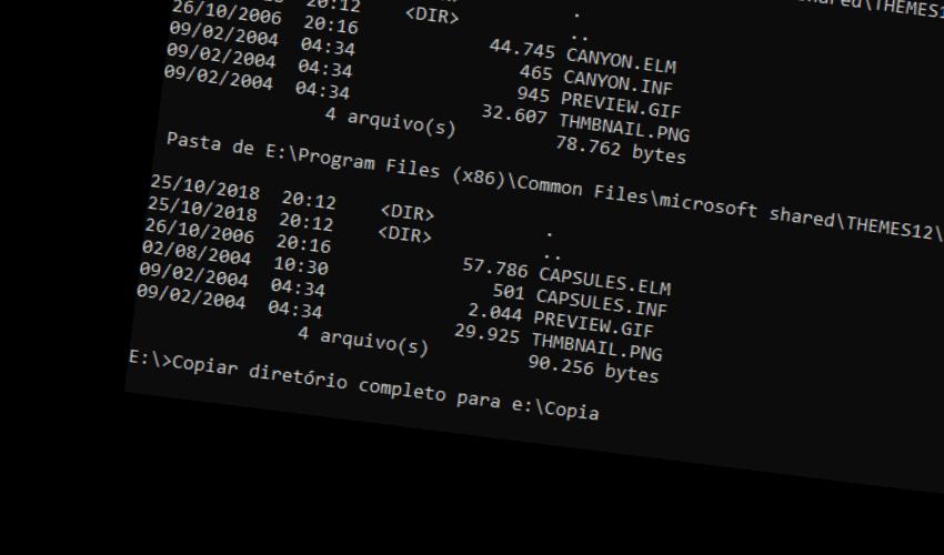 Copiar diretórios completos pela linha de comando 1