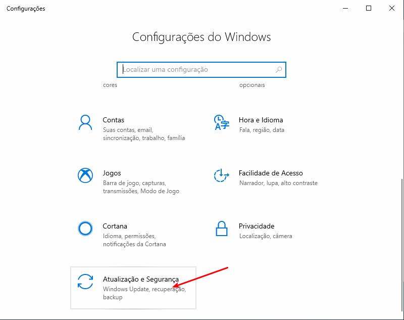 Atualizações do Windows