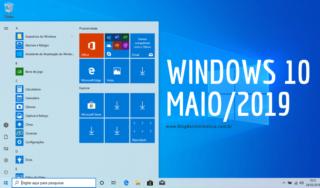 Como obter a atualização de maio/2019 do Windows 10