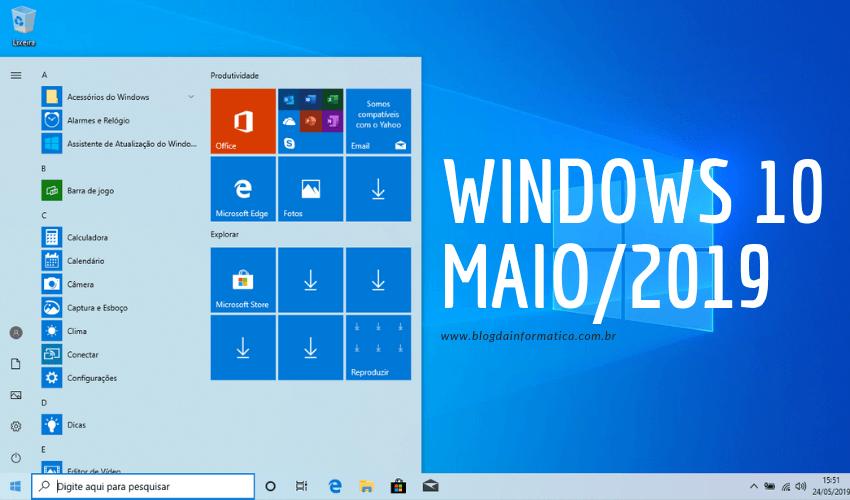 Windows 10 - Atualização de maio/2019