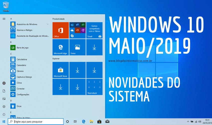 Windows 10 - Novidades da atualização de maio/2019