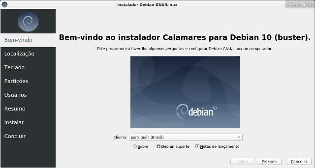 Instalador Calamares - Debian 10