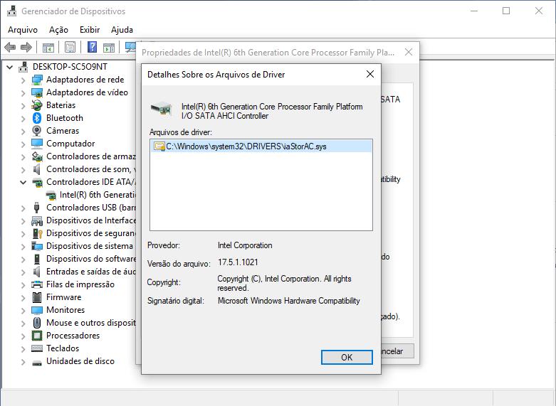 Verificando a versão do driver
