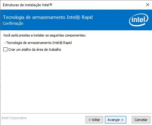 Instalação do Intel RST versão 17 parte 4