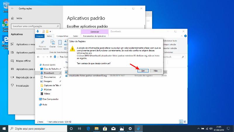 Script para voltar ao padrão do Windows 10