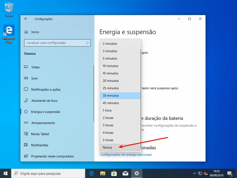 Nunca suspender o computador
