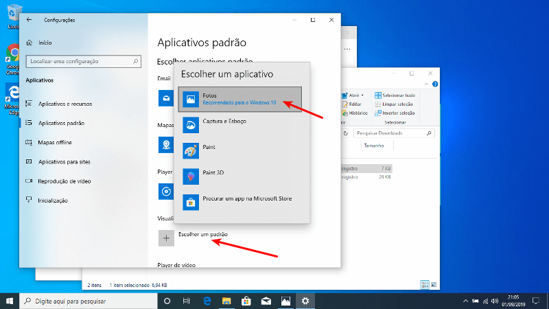 App Fotos - Padrão do Windows 10