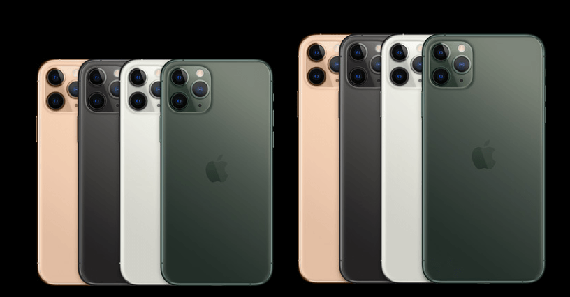 Cores iPhone 11 Pro e Pro Max