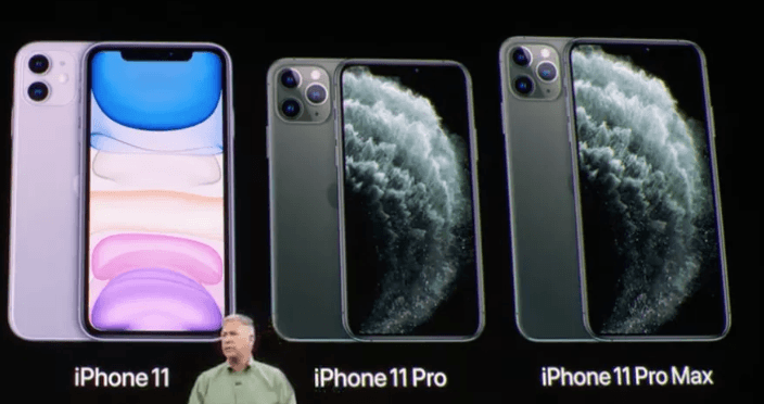 Diferença das telas dos modelos iPhone 11, Pro e Pro Max