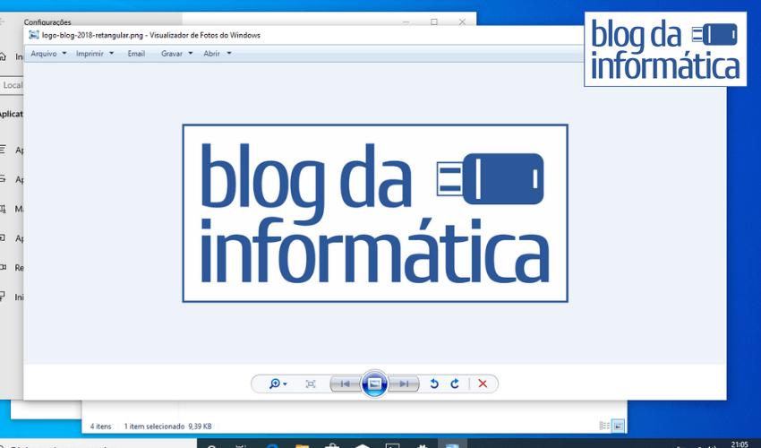 Visualizador de imagens padrão do Windows 10