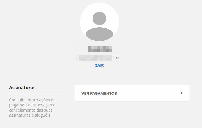 Sua conta GloboPlay