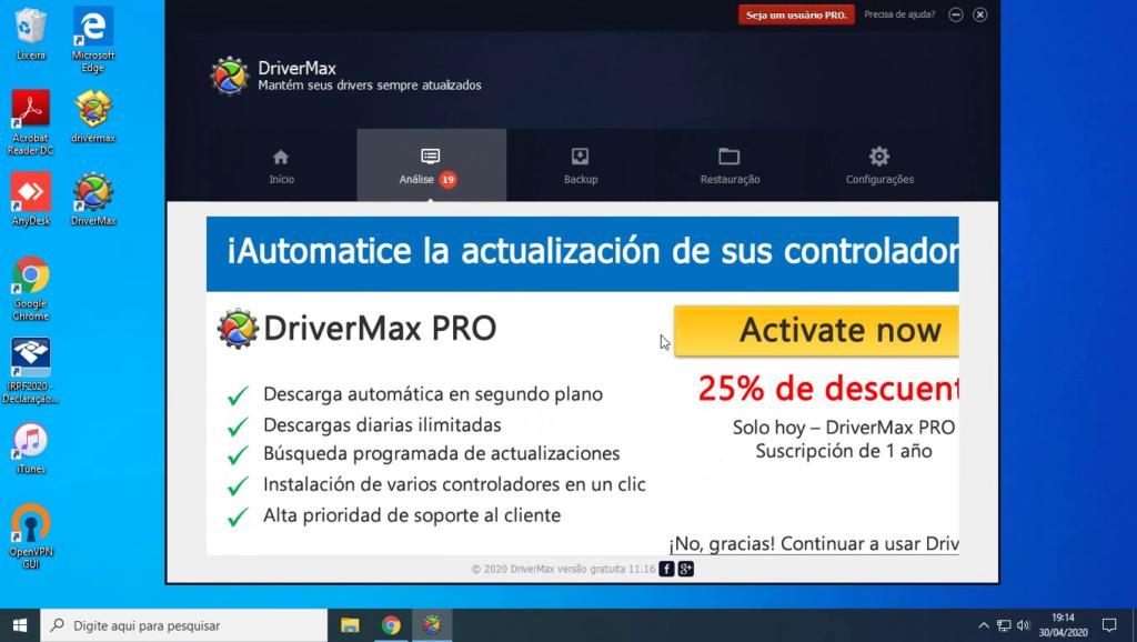 Tela inicial DriverMax