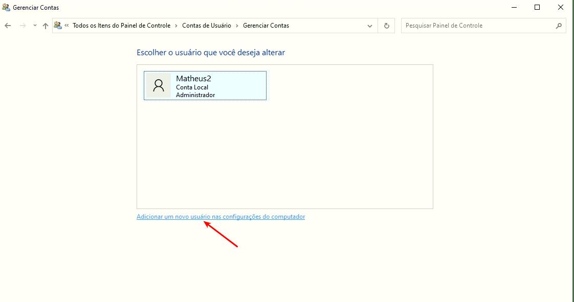 Adicionar um novo usuário