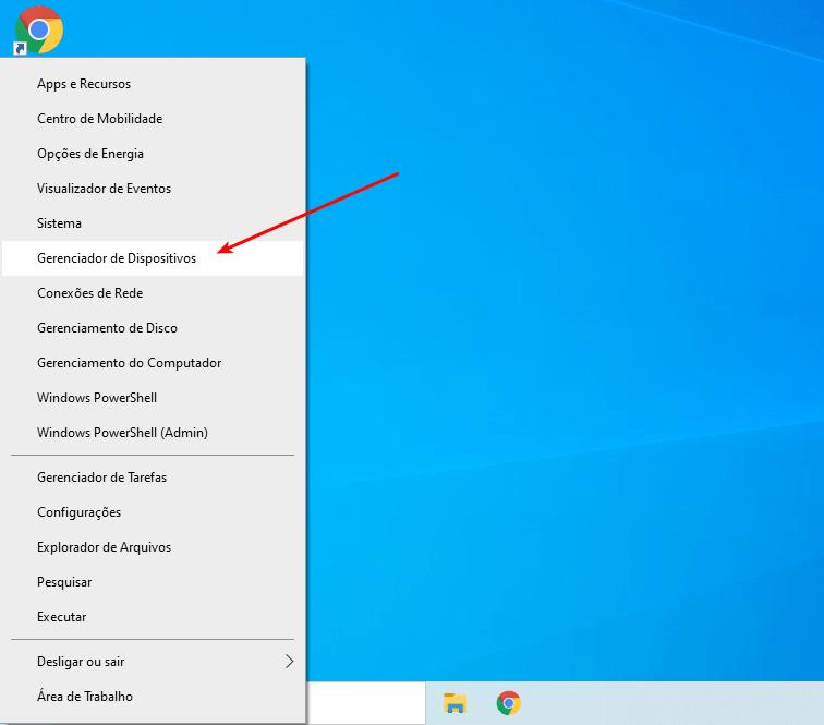 Notebook não desliga -  Gerenciador de dispositivos