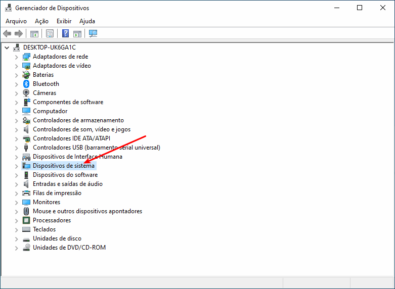 Notebook não desliga -  Dispositivos de sistema