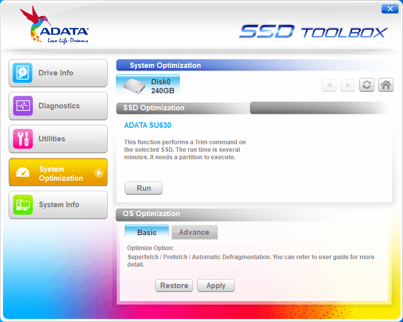 Adata SSD Toolbox - Tela 4