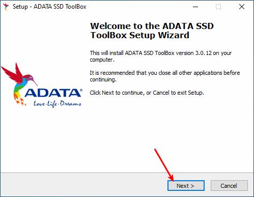Instalação do Adata SSD Toolbox - Parte 1