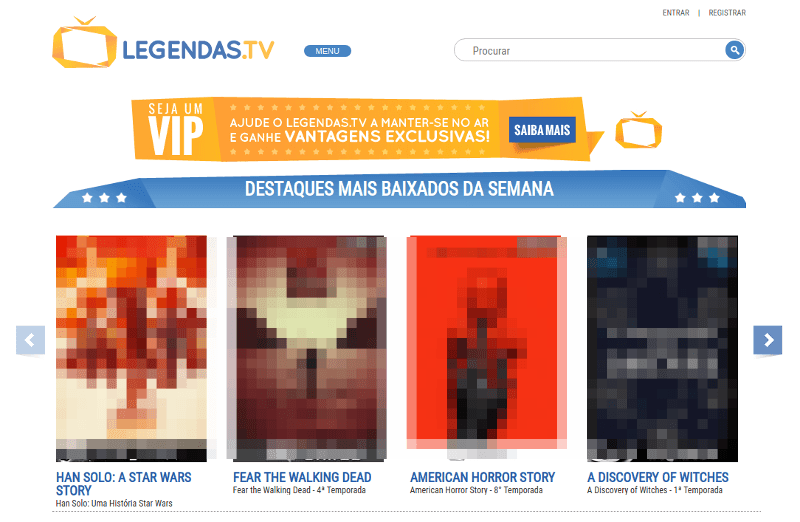 Site Legendas.tv