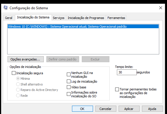 Msconfig - Inicialização normal