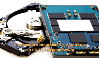 HD e SSD abertos, lado a lado