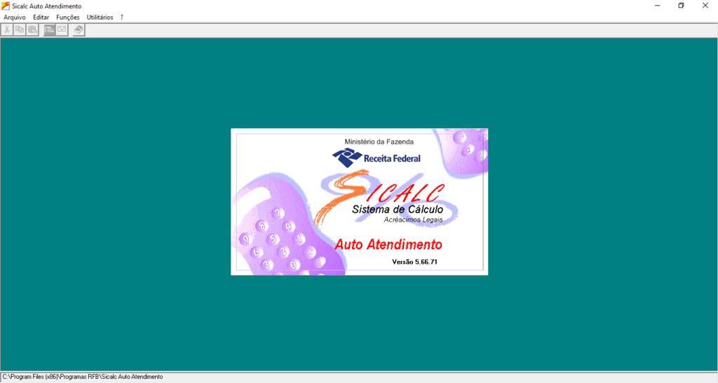 Programa SICALC instalado