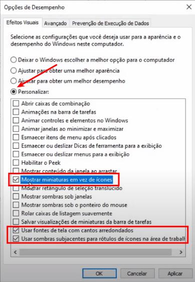Configurações avançadas do Windows 10